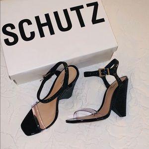 Schutz black heel
